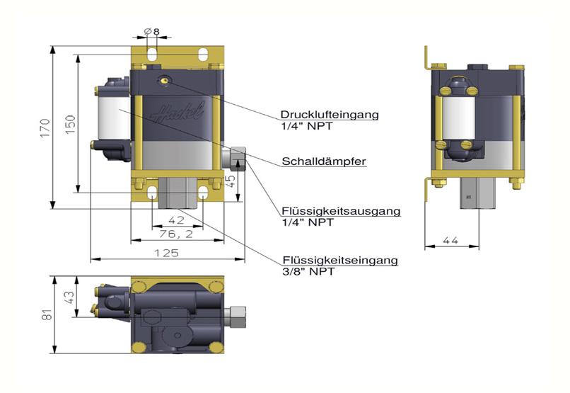 HD Tech - Produkte - Pumpen - M-21 - Massblatt