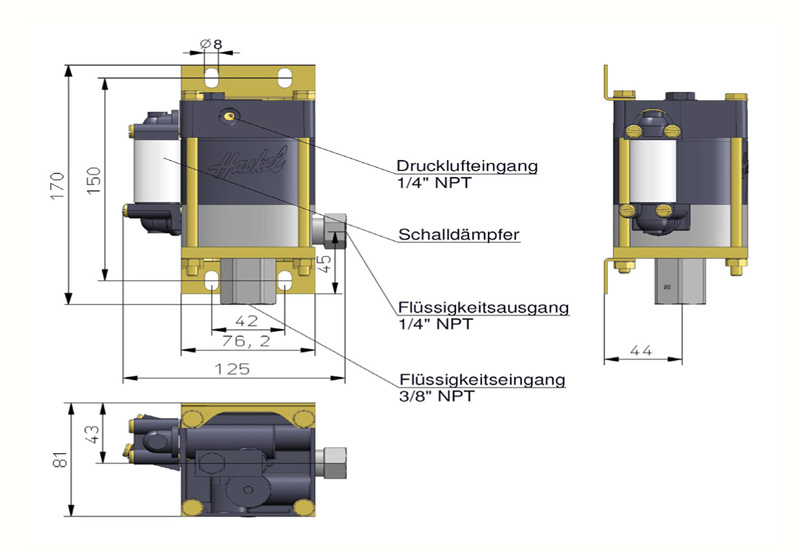 HD Tech - Produkte - Pumpen - M-36 - Massblatt