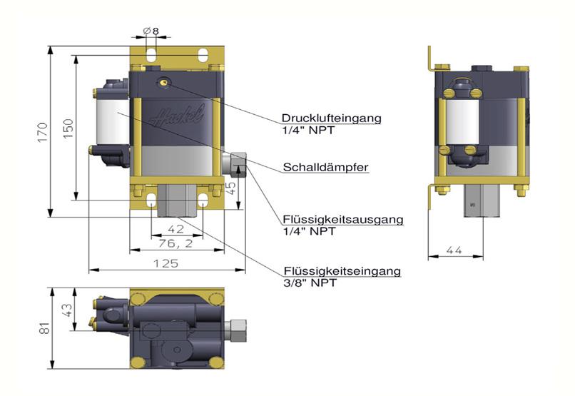 HD Tech - Produkte - Pumpen - MS-36 - Massblatt
