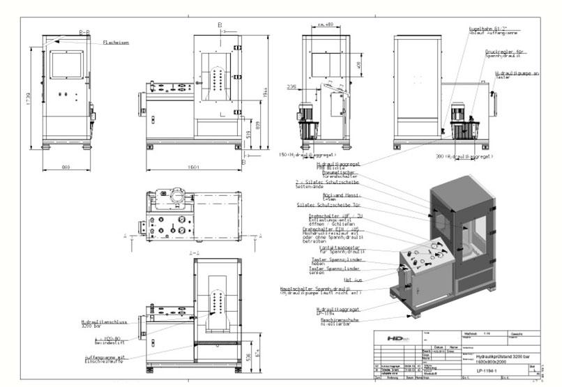 HD Tech - Prüfstand - LP-1194-1-3200 bar - Schaltplan