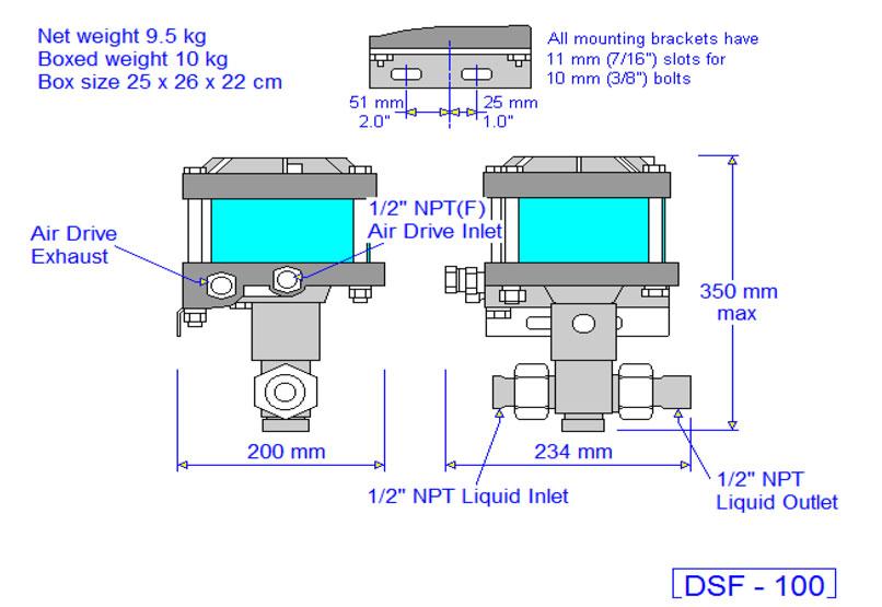 HD Tech - Produkte - Pumpen - DSF-100 - Massblatt