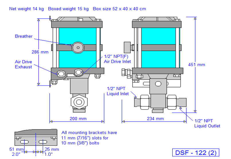 HD Tech - Produkte - Pumpen - DSF-122 - Massblatt