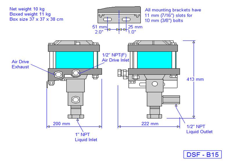 HD Tech - Produkte - Pumpen - DSF-B15 - Massblatt