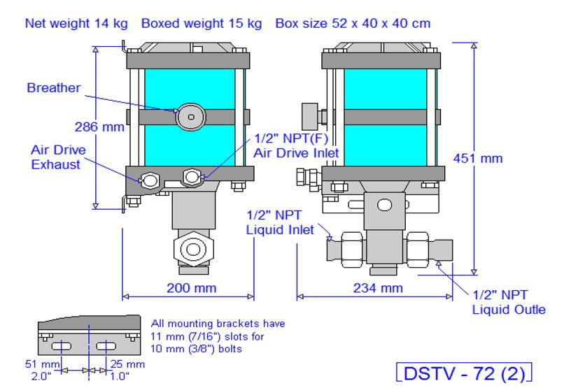 HD Tech - Produkte - Pumpen - DSTV-72 - Massblatt