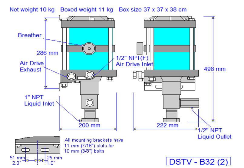 HD Tech - Produkte - Pumpen - DSTV-B32 - Massblatt